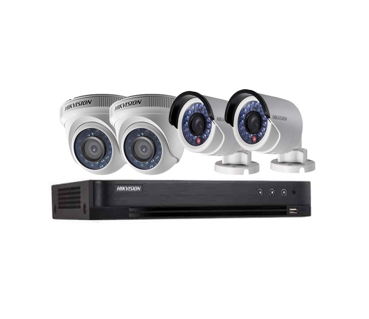 BỘ HIKVISION 4 CAMERA 2.0MP FHD, H.265+, 1000GB