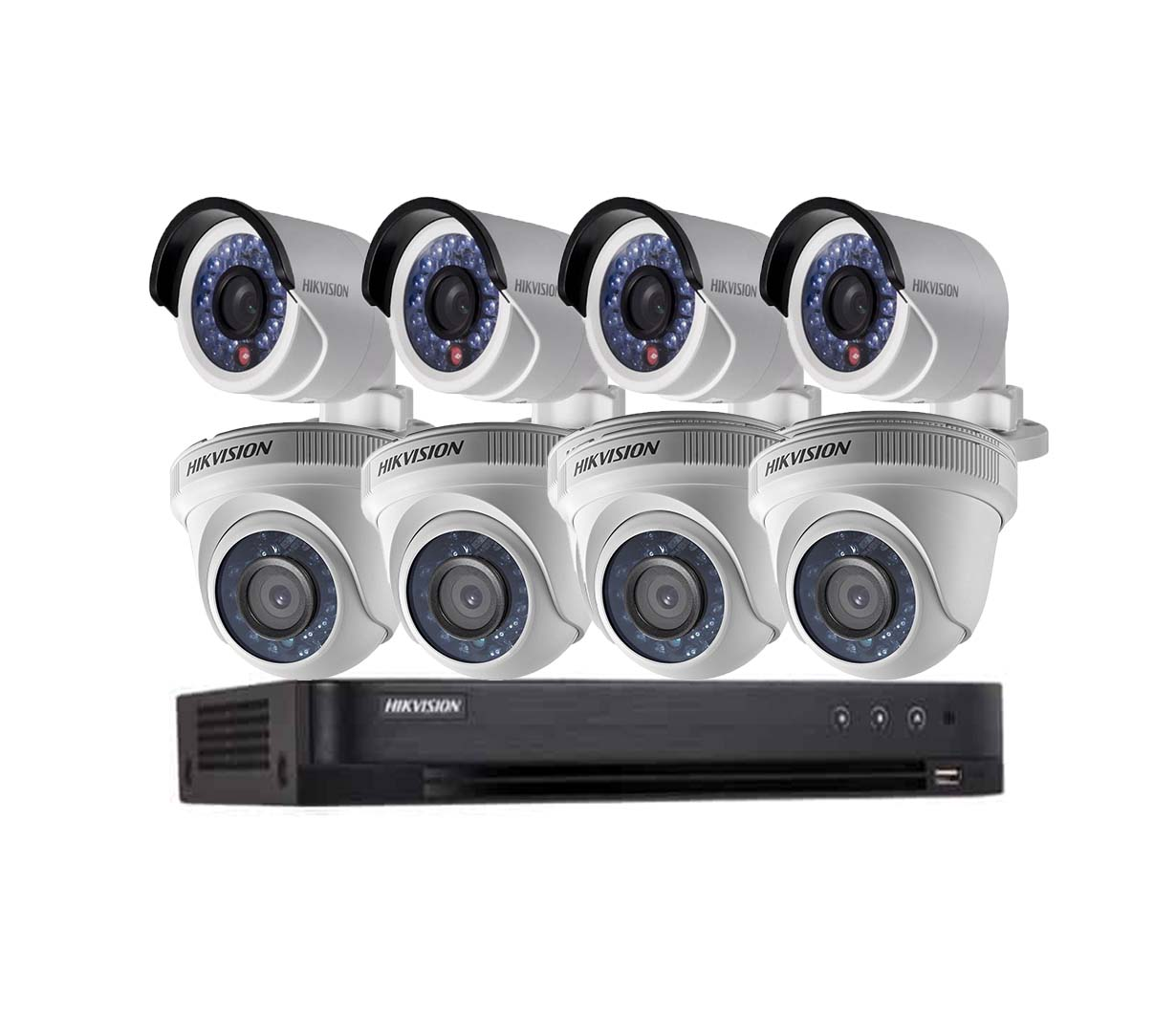 BỘ HIKVISION 8 CAMERA 1.0MP HD , 2000GB, H.264+